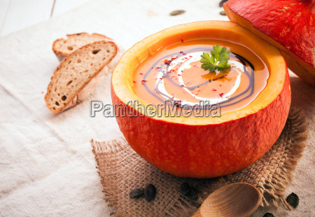 pumpkin, soup, in, the, hollowed, out - 10055054
