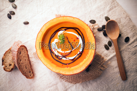 pumpkin, soup, served, in, the, rind - 10055058
