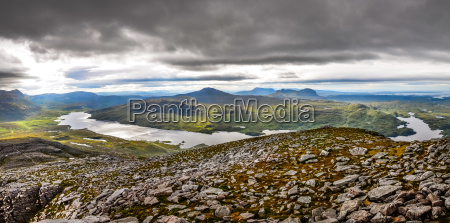 panoramic view of scottish highlands in