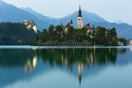 bled, island, and, bled, castle, at - 10064732