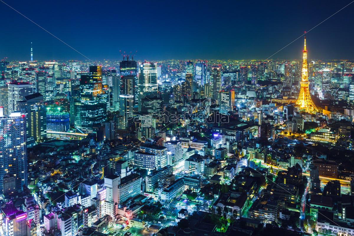 tokyo, skyline, at, night - 10066042