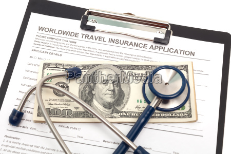 travel insurance application with cash