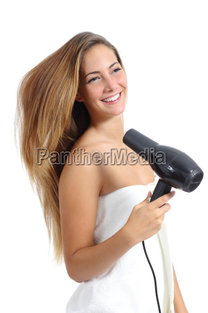 beautiful, woman, with, a, towel, drying - 10070850