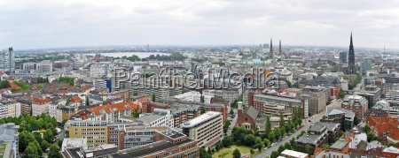 view from the hamburg michel direction