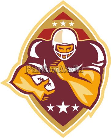 american football running back star ball