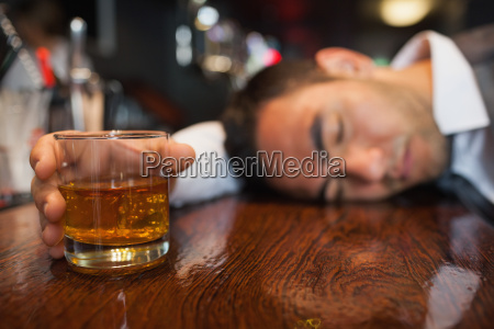 drunk, businessman, with, whiskey, in, his - 10073772
