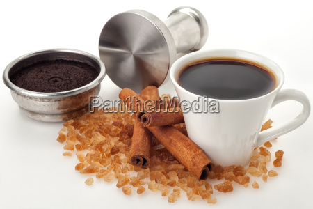 coffee cup with filter basket and
