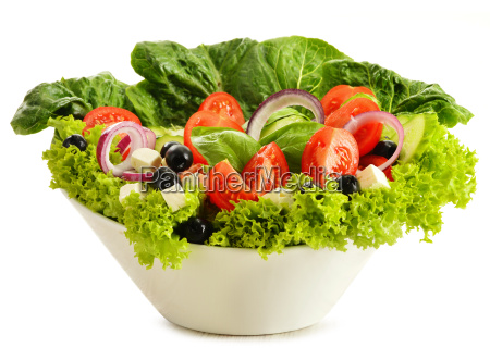 vegetable, salad, bowl, isolated, on, white - 10074900