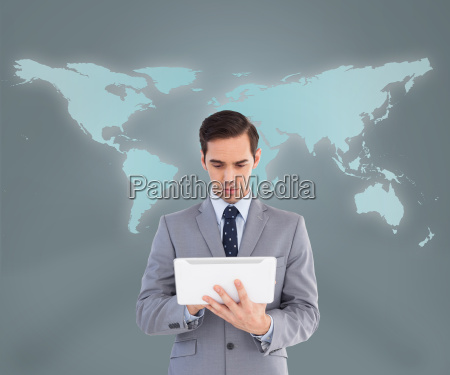 businessman, using, his, tablet, computer - 10077826