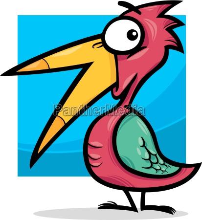 cute little bird cartoon illustration