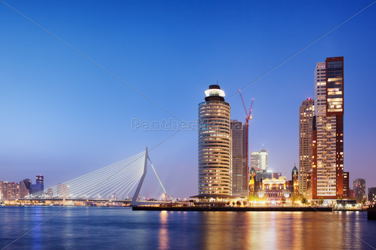 city, of, rotterdam, skyline, in, the - 10091970