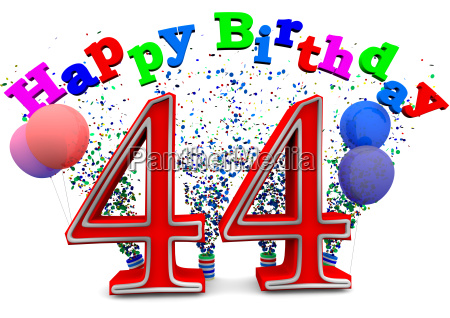 a 44 with happy birthday and