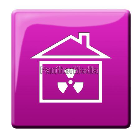 nuclear radiation icon