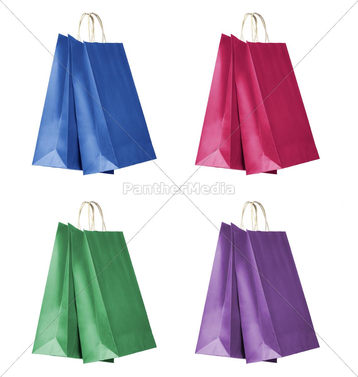 four, colour, shopping, bags - 10096662