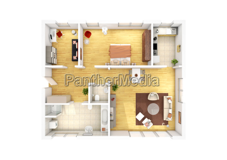floor plan 3 room apartment