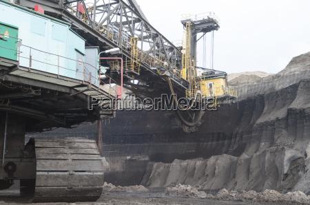 open pit mining coal lignite excavators
