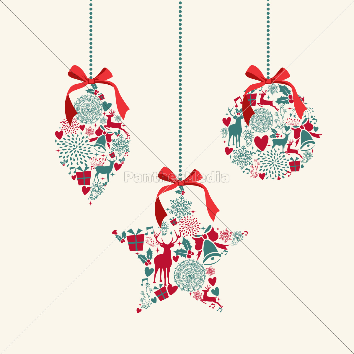 merry, christmas, hanging, baubles, elements, composition. - 10100800
