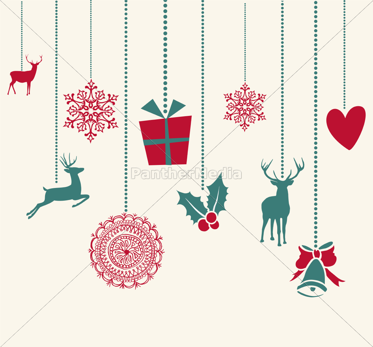 merry, christmas, hanging, decoration, elements, composition. - 10100810