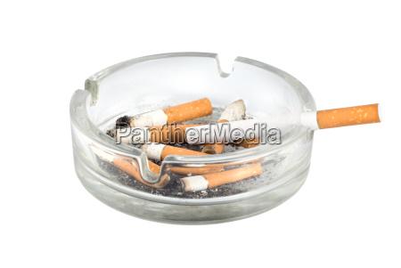 ashtray and cigarettes close up