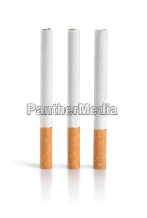 three cigarettes isolated path