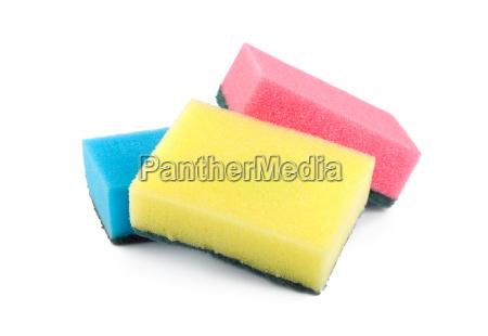 three sponges