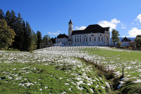 the wies church in the autumn