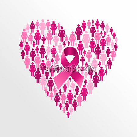 breast, cancer, awareness, ribbon, women, heart - 10113741