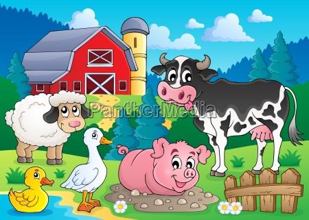 farm, animals, theme, image, 3 - 10113927
