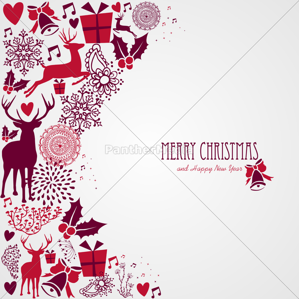 merry, christmas, text, and, vintage, elements - 10113759