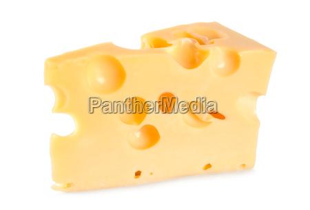 dutch farmers cheese isolated