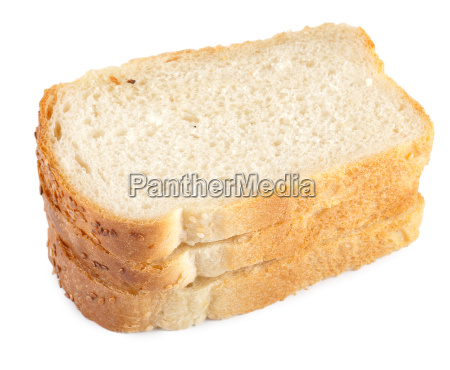 piece of white bread isolated