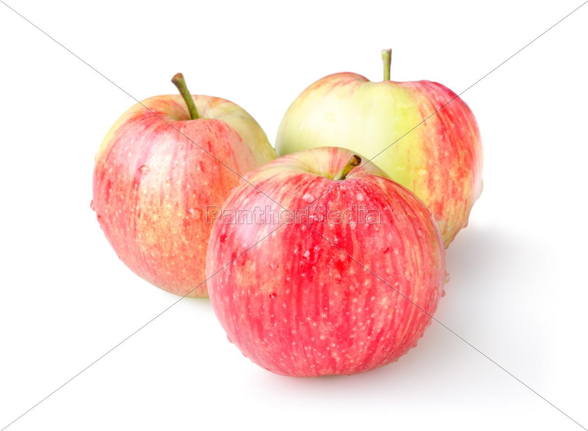 three, ripe, apples, isolated - 10116453