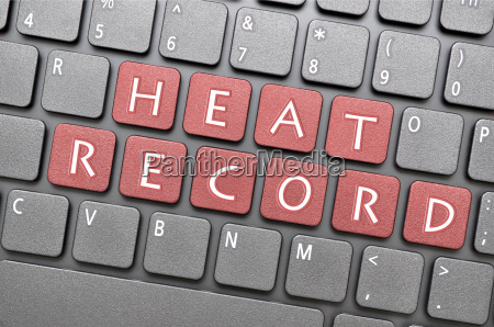 heat record on keyboard