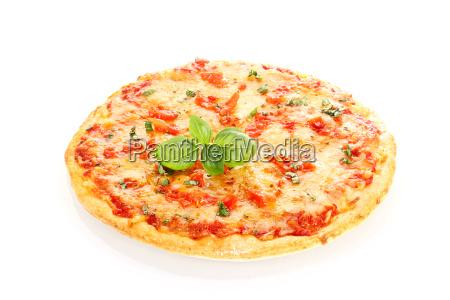 pizza, margherita, isolated, on, white, background - 10120725