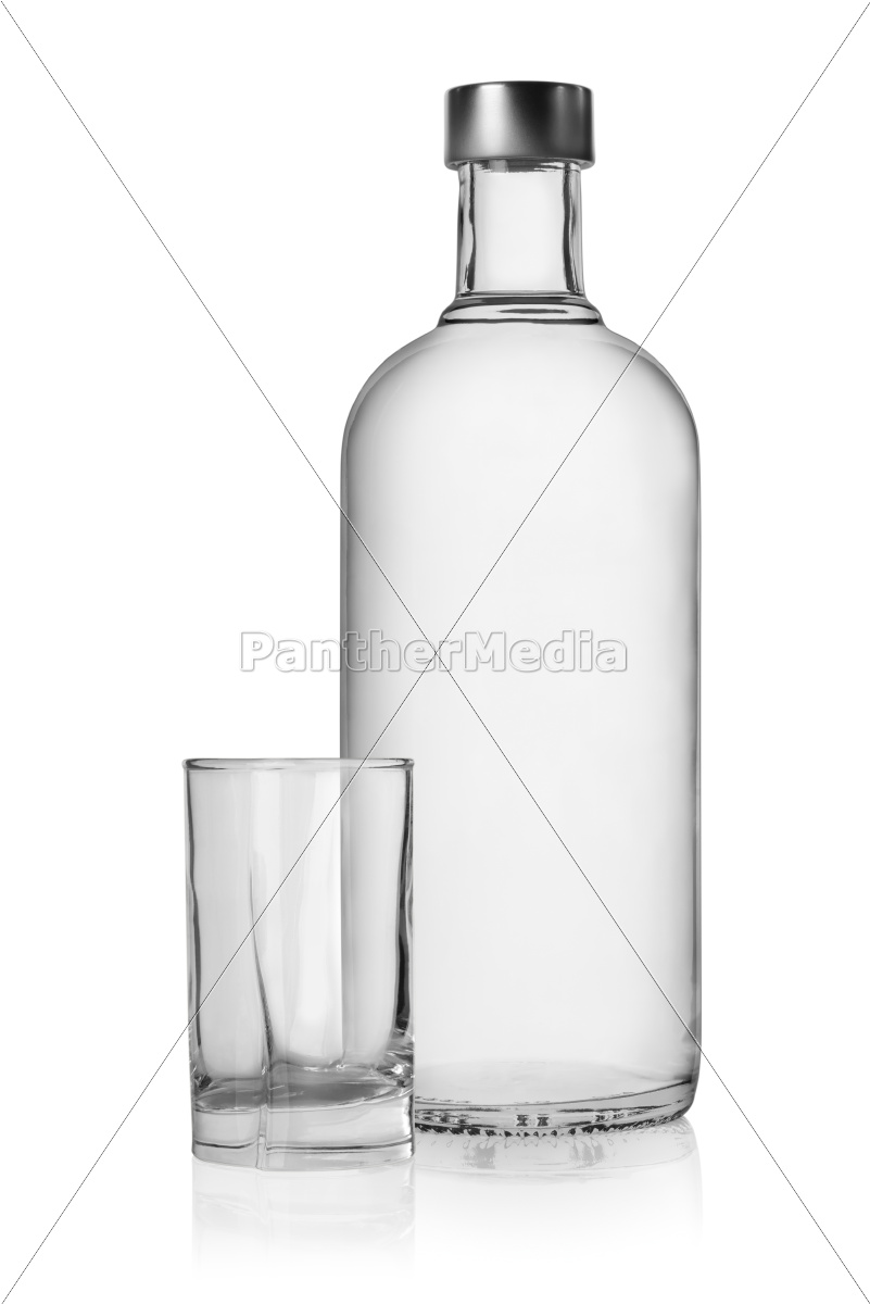 bottle, and, glass, of, vodka - 10122299