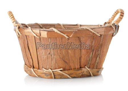 wooden wattled basket