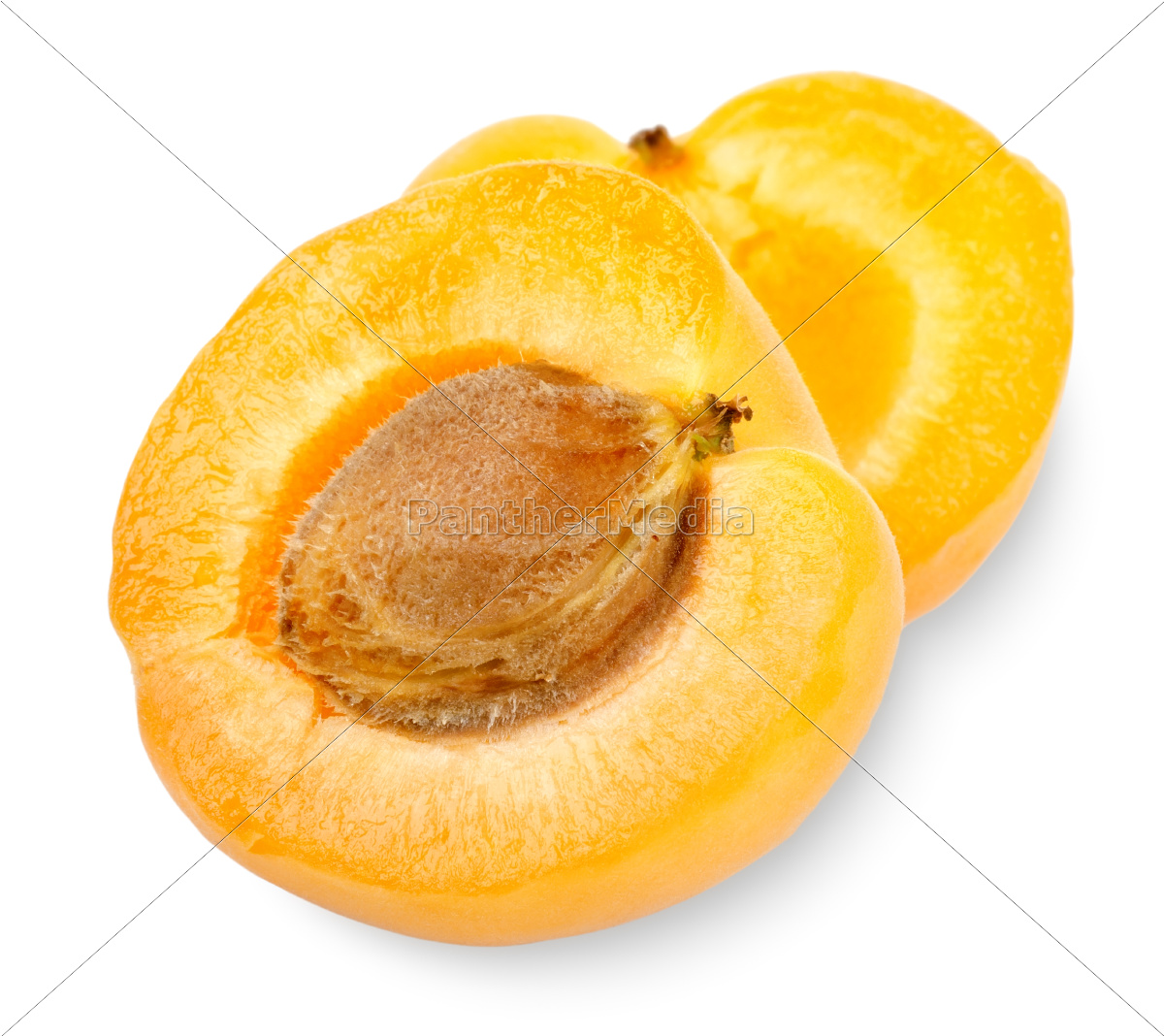 ripe, apricot, sectioned, by, knife - 10123831