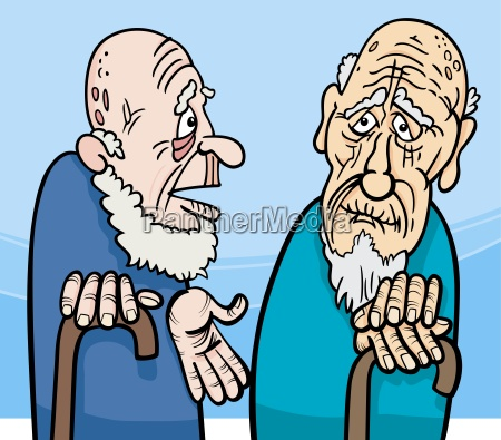 old men cartoon illustration