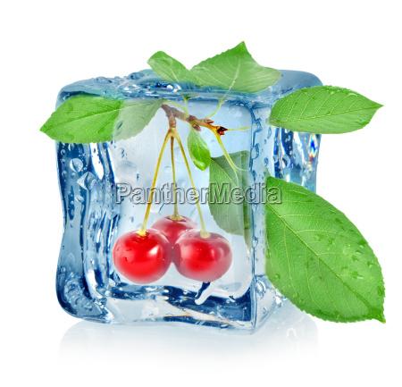 ice cube and cherry