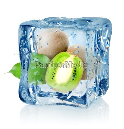 ice, cube, and, kiwi - 10124633