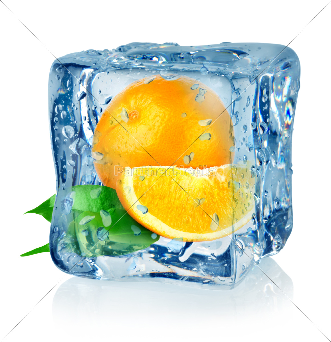 ice, cube, and, orange - 10124651