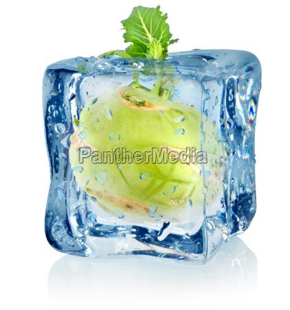 ice, cube, and, kohlrabi - 10125739