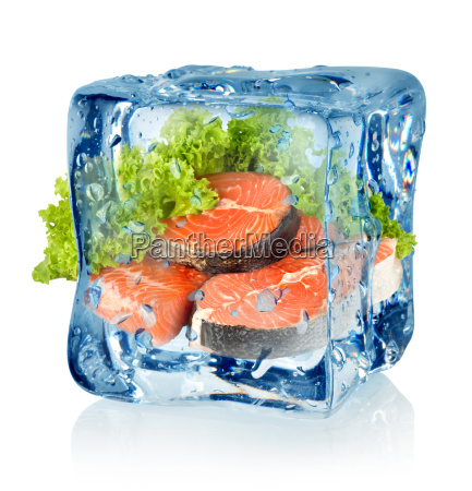 ice, cube, and, salmon - 10125771
