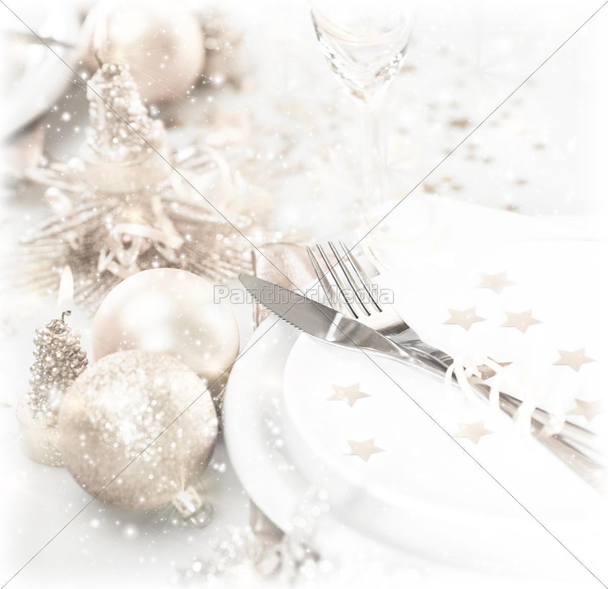 festive, table, setting - 10135791
