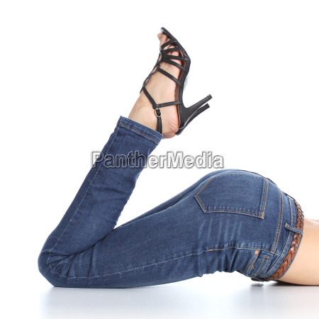 woman legs with jeans and sandal