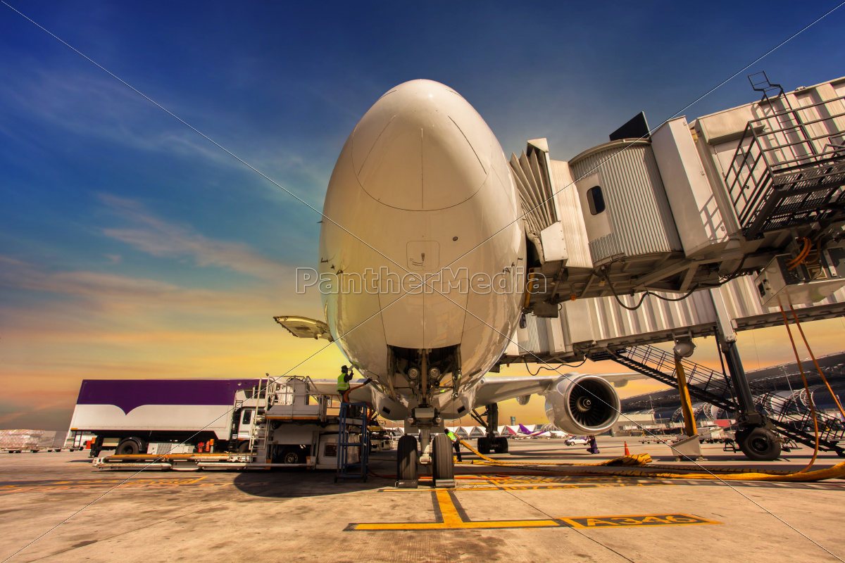 airplane, at, sunset, -, back, lit - 10140189