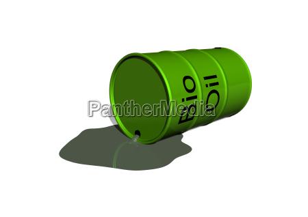 a leak bio oil barrel