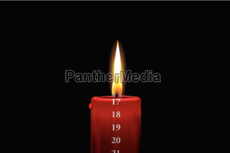 red advent candle december 17th