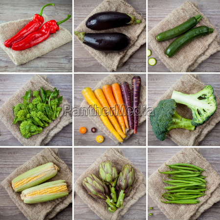 mixed, vegetables, collage - 10145805
