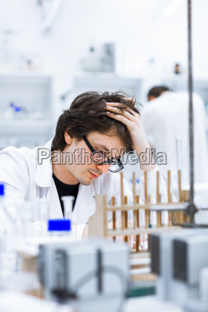 young, male, researcher, carrying, out, scientific - 10147373